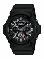Casio Mens GA201-1 G-Shock Shock Resistant Sport Watch With Black Resin Band