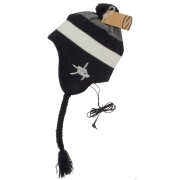SMITH OPTICS MENS WOMENS MELTDOWN WINTER SNOW EAR FLAP TASSEL HAT WITH SPEAKERS